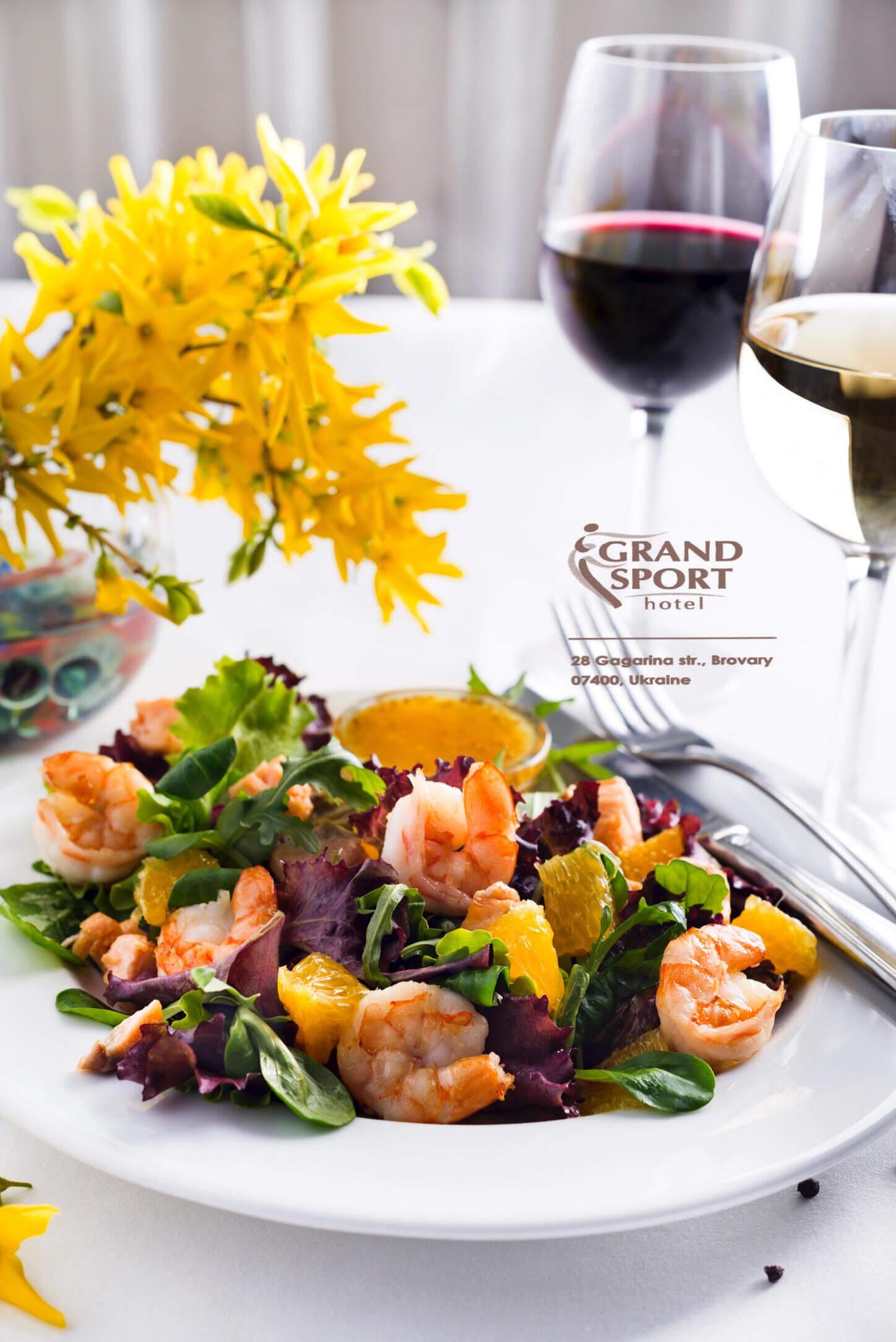 салат с креветками Бровары